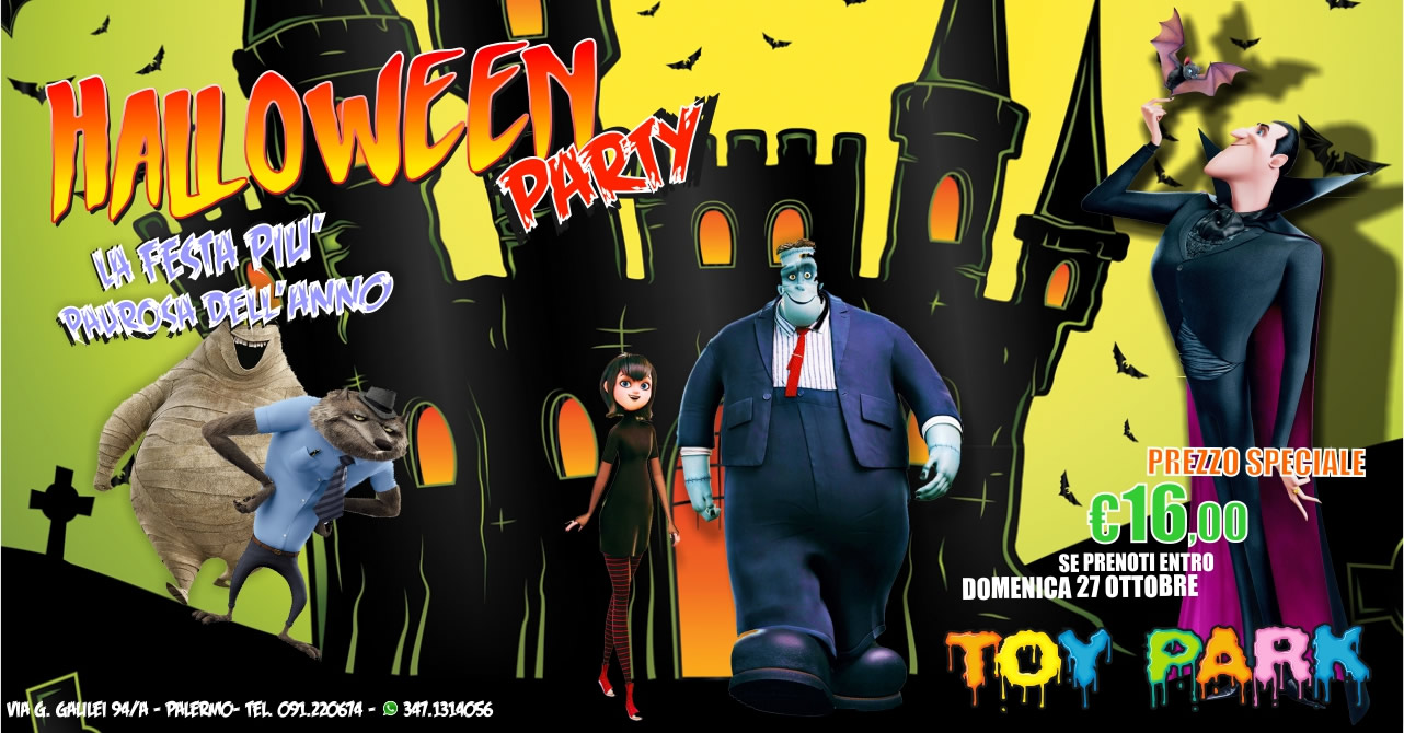 Promozione parco divertimenti Palermo Toy Park: Halloween Party 2019